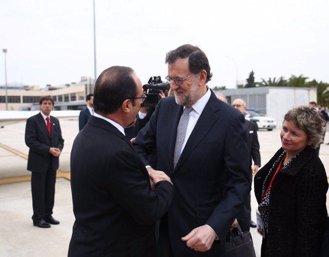 Rajoy y Hollande en Málaga