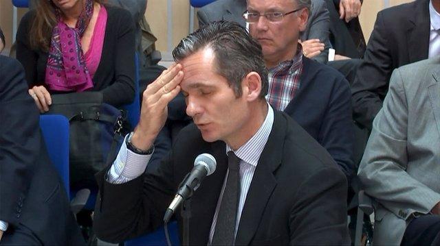 Iñaki Urdangarin en el juicio del caso Nóos