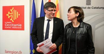 Puigdemont niega que un Estado catalán tenga aspiraciones en el sur de...