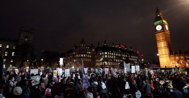 Protestas en contra de la visita de Estado de Trump a Reino Unido
