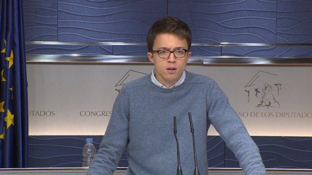 Errejón será portavoz de Unidos Podemos en la Comisión Constitucional del Congre
