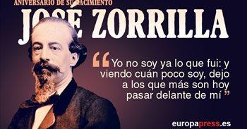 200 años del nacimiento de José Zorrilla, el autor de Don Juan Tenorio
