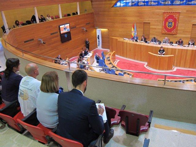 Víctimas de Angrois en el pleno del Parlamento de Galicia