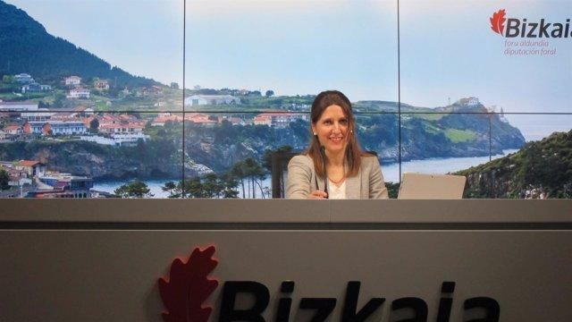 Elena Unzueta, portavoz de la Diputación de Bizkaia
