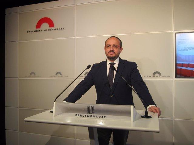 El portavoz del PP en el Parlament, Alejandro Fernández