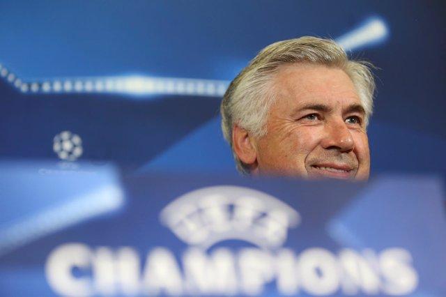 Carlo Ancelotti, en rueda de prensa