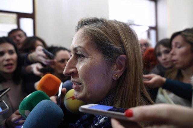 Ana Pastor hace declaraciones en el Congreso