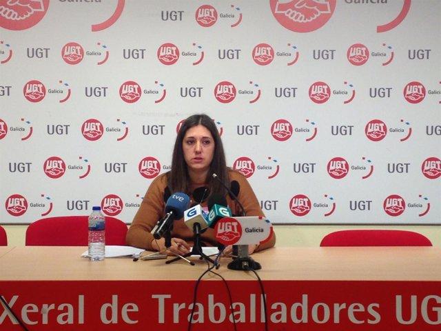 La secretaria de Igualdade de UG, Mónica Rodríguez