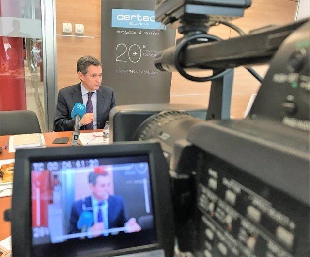 El director general de Aertec Solutions, Antonio Gómez-Guillamón.