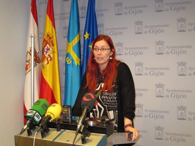 La Concejala Del Grupo Municipal De Xixón Sí Puede (XSP), Estefanía Puente