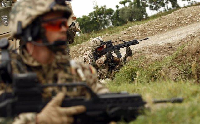 Soldados alemanes desplegados en Afganistán