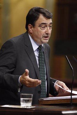 Aitor Esteban, portavoz del PNV, en la sesión de control en el Congreso