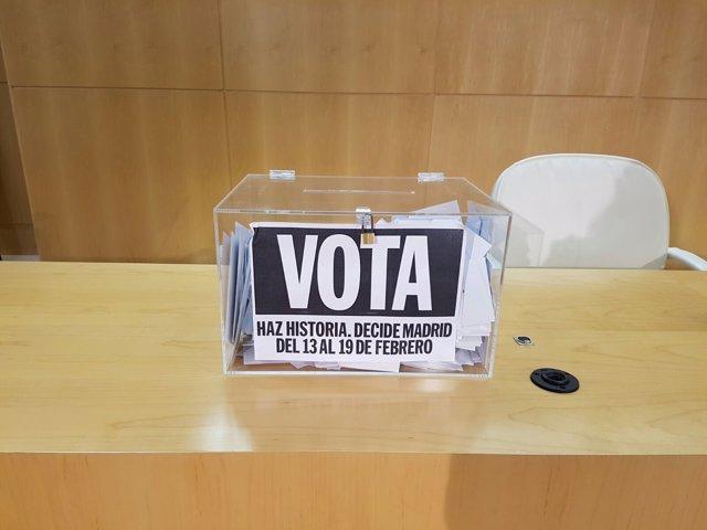 Urna de Votación Decide Madrid