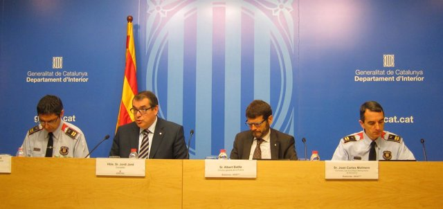 Josep Lluís Trapero, Jordi Jané, Albert Batlle y Joan Carles Molinero