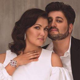 Soprano rusa Anna Netrebko y su marido el tenor Yusif Eyvazov starlite marbella