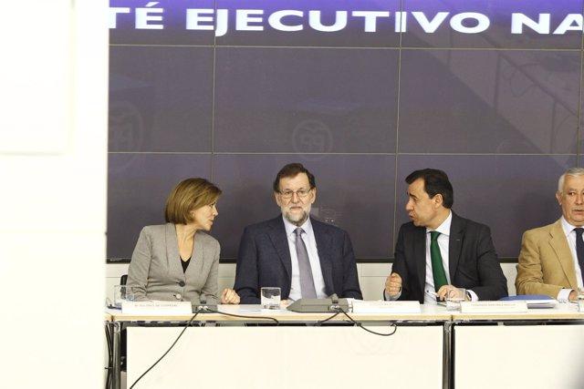 Cospedal, Rajoy y Fernando Martínez Maillo en el Comité Ejecutivo Nacional