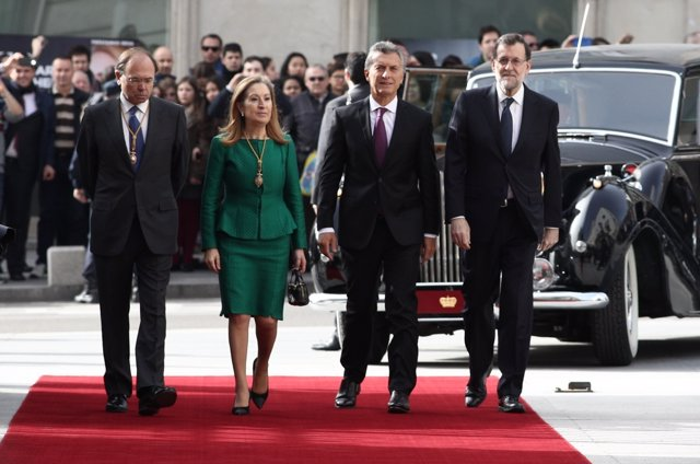Mauricio Macri, Rajoy, Ana Pastor y Pío García Escudero en el Congreso