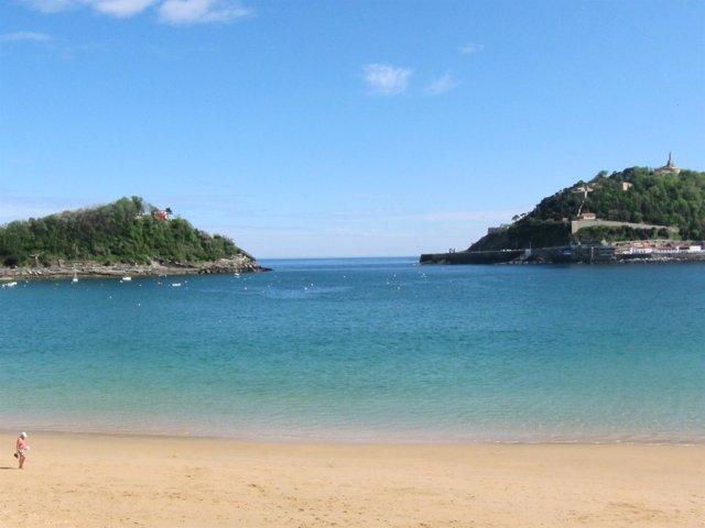 Playa donostiarra de La Concha.