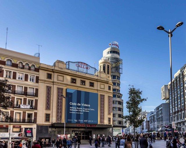 Artistas de ARCO exhiben su obra en las pantallas de los Cines Callao, en Madrid