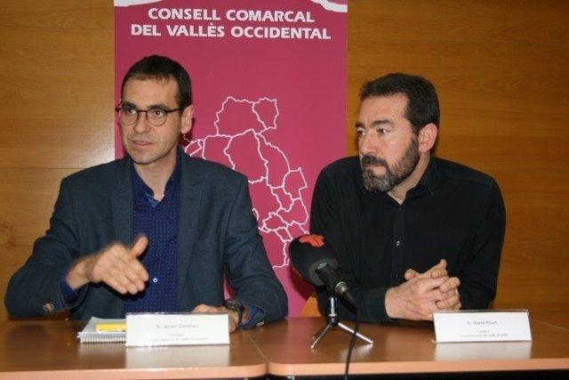 Los presidentes del Consell Comarcal del Vallès Occidental y Oriental