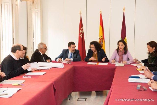 Reunión de la Mesa Técnica de Seguimiento del PGMOU en Cartagena