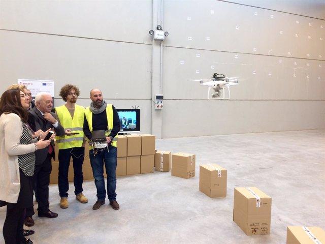 Demostración con un dron del mecanismo de Airvant.