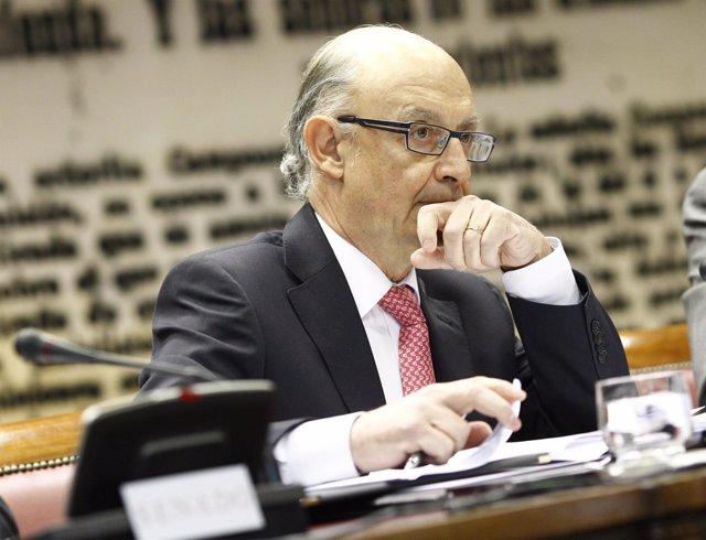 Cristóbal Montoro comparece en el Senado