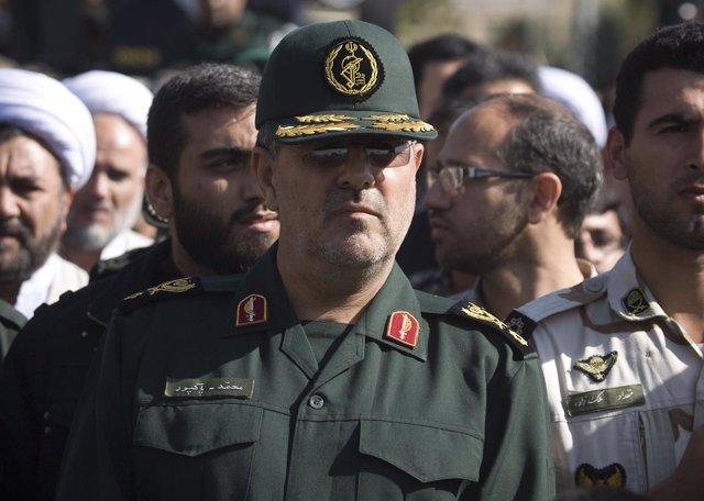 El jefe de la Guardia Revolucionaria de Irán, Mohamad Pakpour.