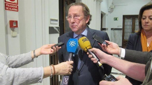 Emilio de Llera, tras la Sectorial de Justicia