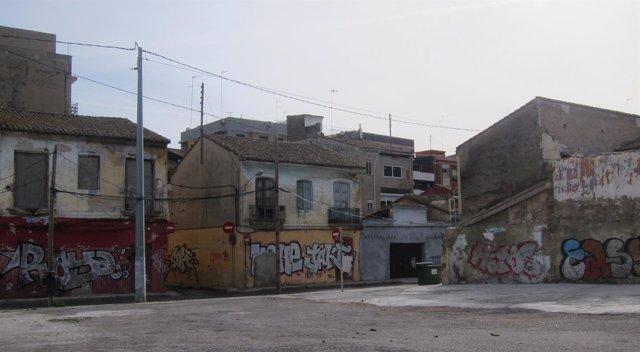 Imagen del barrio del Cabanyal, entorno calle Lluís Despuig