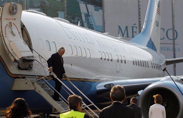 Secretario de Estado de EEUU Rex Tillerson llega a México