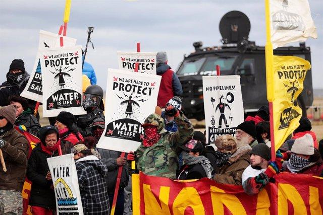 Manifestación contra el proyecto de Oleoducto Dakota Access