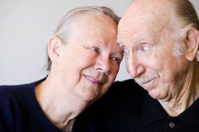 Pareja, ancianos, alzheimer, demencia, mayores, tercera edad