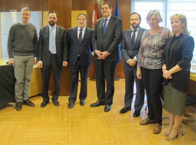 Reunión consejeros de Medio Ambiente de La Rioja y Madrid