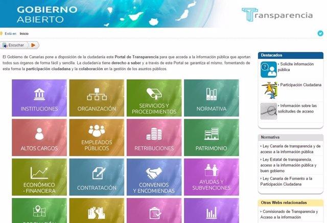 Portal de transparencia de Canarias