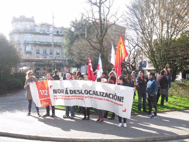 Trabajadores del 112 se concentran contra su traslado
