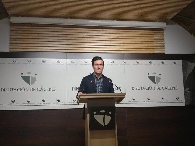 Fernando Garcia Nicolás, portavoz de la Diputación de Cáceres