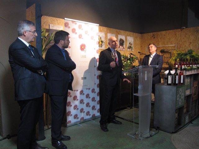 Nozaleda, Soro y Olona han asistido a la cata de nuevos vinos de Bodegas Laus