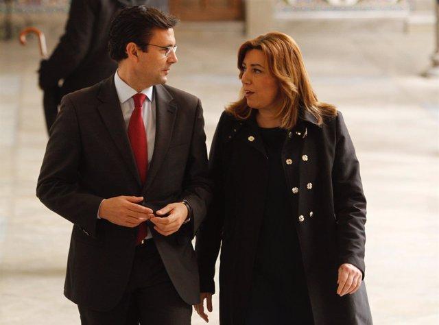 El alcalde de Granada recibe a la presidenta de la Junta, Susana Díaz