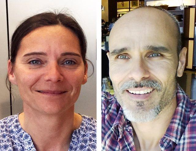 Los investigadores Jana Selent y Ramon Guixà