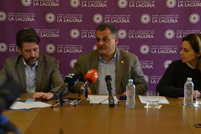 Carlos Alonso, José Alberto Díaz y Mónica Martín