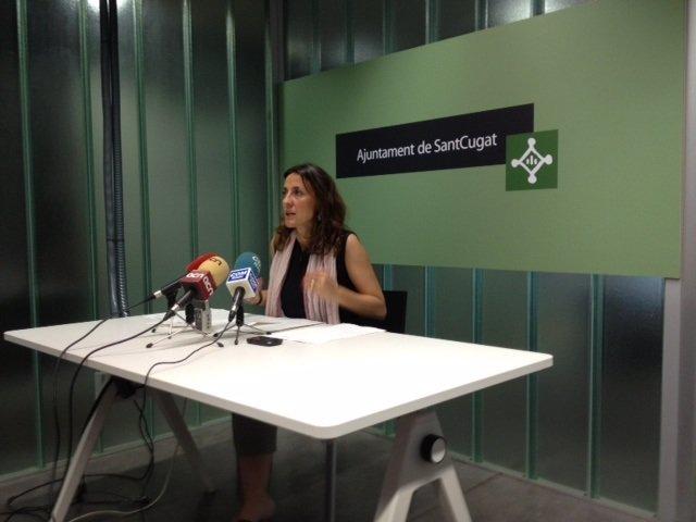 Mercè Conesa, En Rueda De Prensa