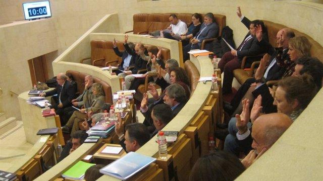 Votación en el debate  presupuestario