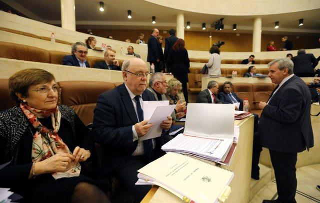 Debate de presupuestos en  el  Pleno del  Parlamento