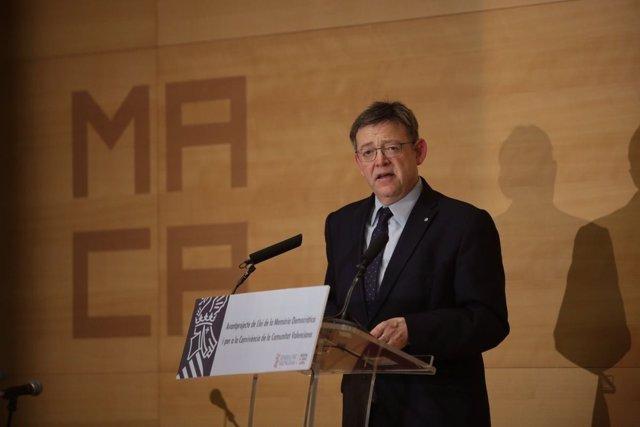 Puig presenta el anteproyecto de Ley de Memoria Democrática en Alicante