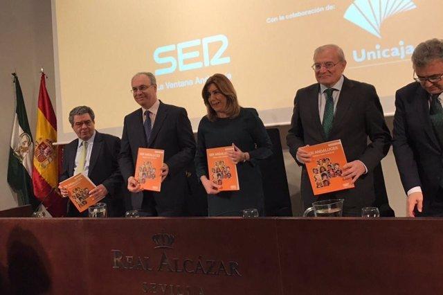 Susana Díaz, en la presentación del séptimo libro-cd 'Ser andaluces'