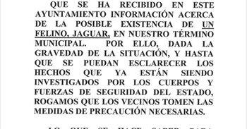 Subdelegación del Gobierno de Valladolid desmiente que exista un jaguar...