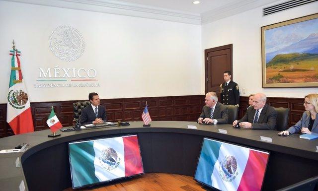 Encuentro entre Peña Nieto, John Kelly y Rex Tillerson en México