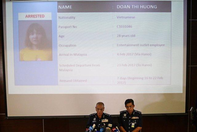 Policía de Malasia ofrece rueda de prensa sobre asesinato de hermanastro de Kim
