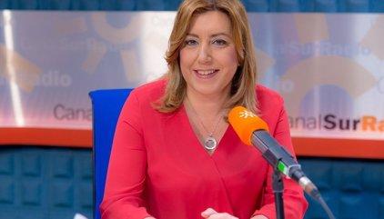 """Susana Díaz rechaza """"debates maniqueos"""" porque en el PSOE todos """"somos socialistas y de izquierda"""""""